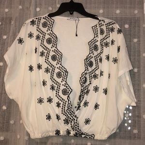 Embroidered crop too